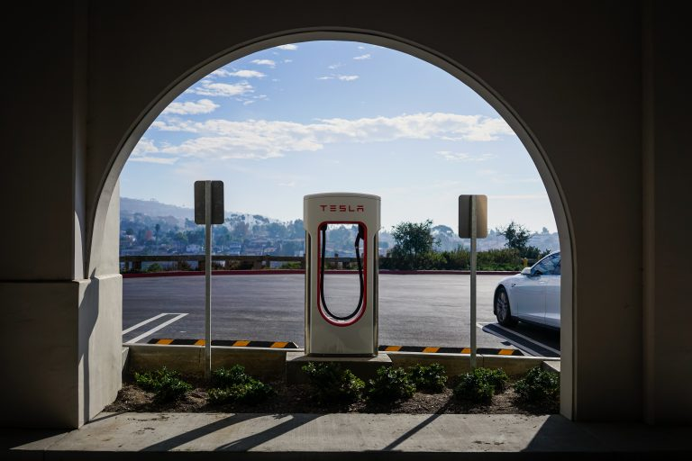 Tesla charging port
